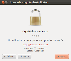 Cryptfolder-Indicator en Oneiric