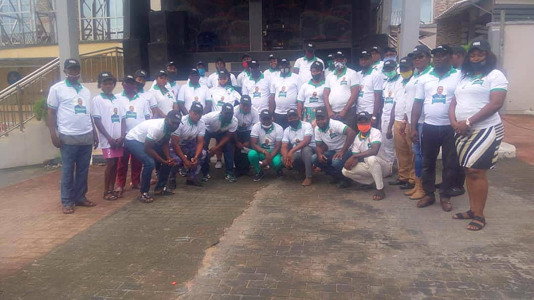 IN AWKA: GSM Volunteers Moves in One Voice To Support Dr Godwin Maduka