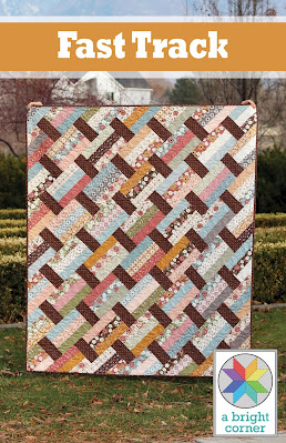 Fast Track quilt pattern by Andy of A Bright Corner - great for using precuts or fat quarters or yardage - pattern has four sizes (crib, lap, throw, twin)