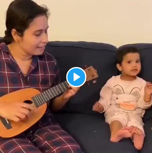 Maa aur Nanhi bacchi ka Viral Video: 'Agar Tum Saath Ho' song gaa rahe dono