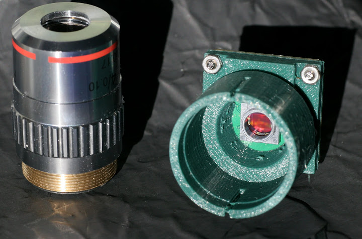 v2 1 camera with microscope objective as lens raspberry pi forums