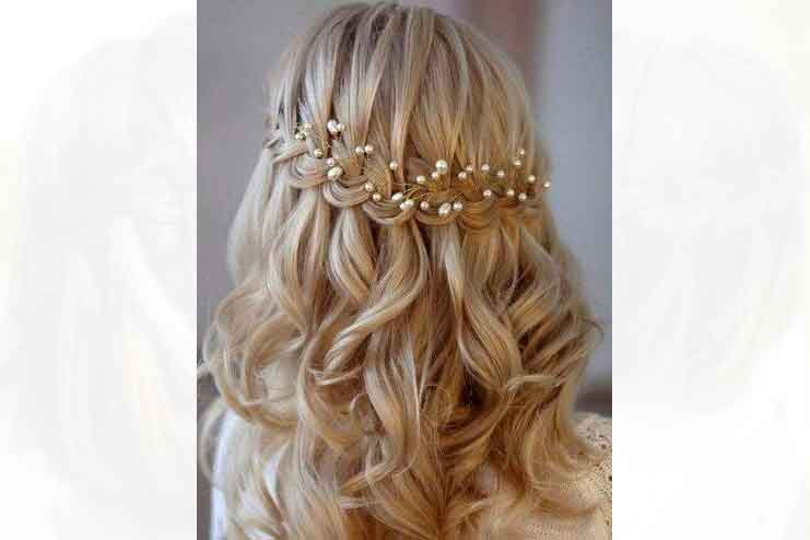 WATERFALL LOOK FOR AFRICAN BRIDE HAIR STYLES 15
