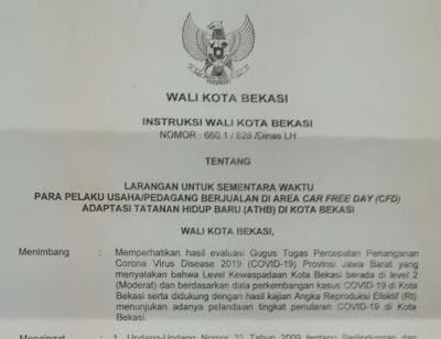 MASA NEW NORMAL PEDAGANG DILARANG BERJUALAN DI AREA CFD