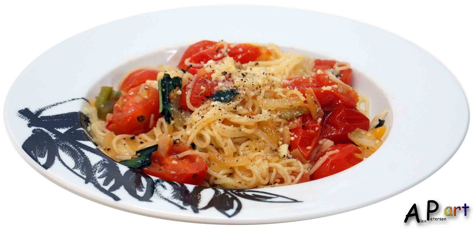 Angel Hair Pasta With Roma Tomatoes Basil