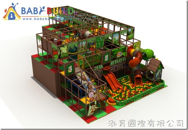 BabyBuild 室內3D泡管綜合體適能遊具