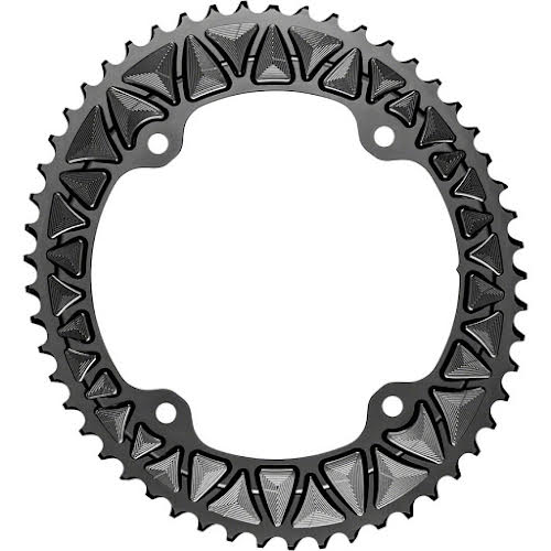 Absolute Black Premium Oval 145 BCD Road Outer Chainring for Campagnolo - 53t, 145 BCD