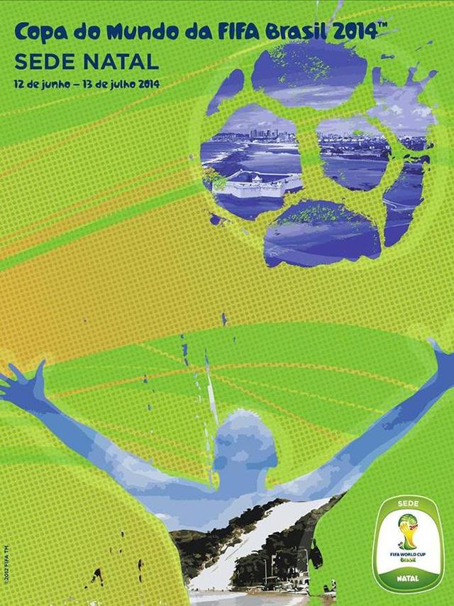 Cartaz Natal sede Copa do Mundo
