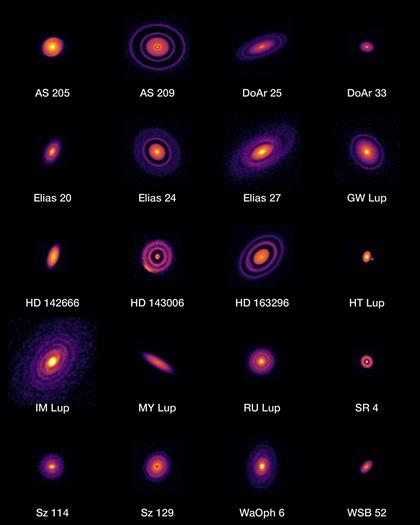 imagens de alta resolução de discos protoplanetários próximos