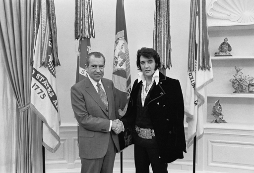 Elvis meets President Richard Nixon 1970