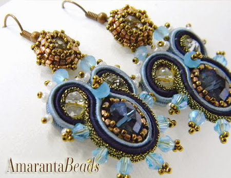 Soutache Earrings by Amaranta Beads
