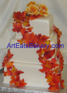 Dots Cascading Square Cake