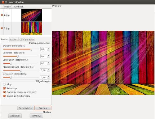 Macrofusion su Ubuntu 12.04