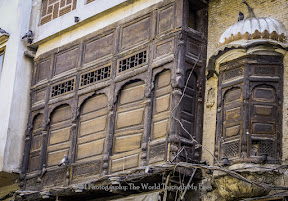 Old architecture of a home in Walled city