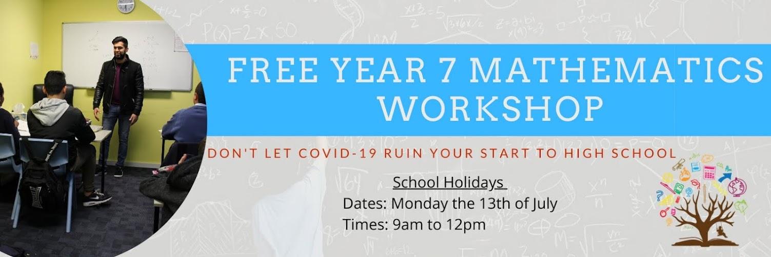 FREE Year 7 Maths Workshop