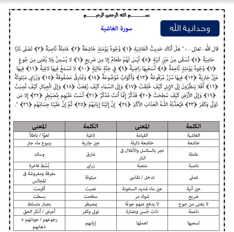 تحميل مذكرة التربية الدينية للصف الثالث الابتدائي ترم اول 2021/2020