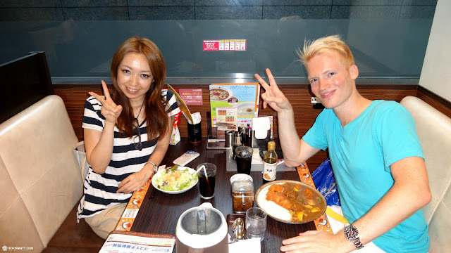 meeting up with my first Japanese friend (since 2006) + enjoying some epic Japanese curry in Roppongi, Tokyo, Japan