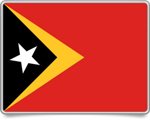 Timorese framed flag icons with box shadow