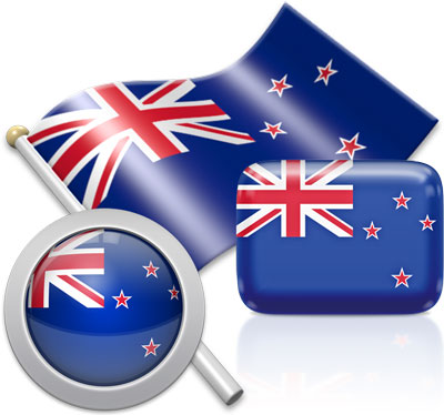 New Zealand flag icons pictures collection