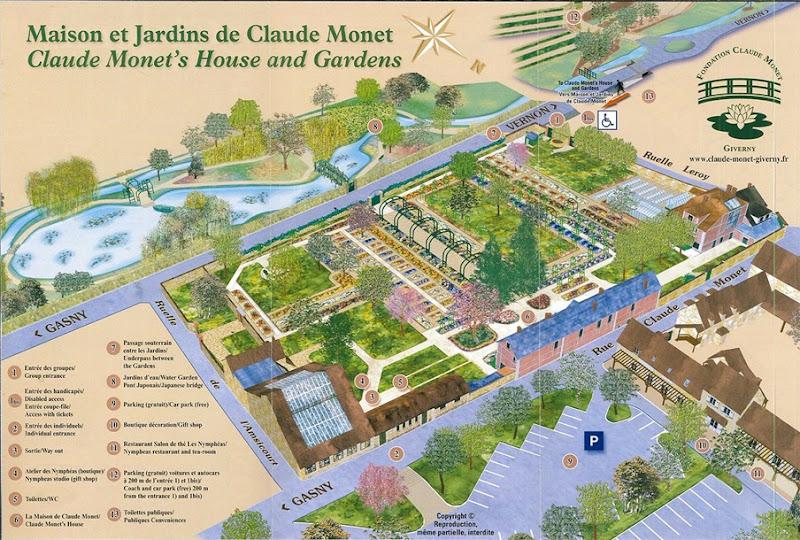 Giverny plan des jardins