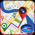 GPS Map Camera - Compass & Navigation icon