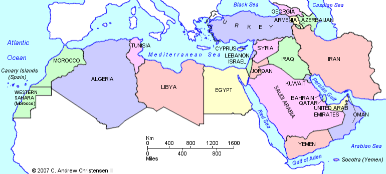 Political Map Of The Middle East And North Africa.Ea O Ka Aina Revolts In The Middle East