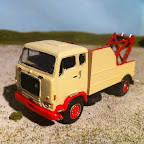 Volvo F86 -with base toys chassis and box body cut down and Harvey Frost recovery crane added