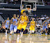 Candace Parker's #3 steal late in the game, all but ended Chicago's hopes. (WNBA: Los Angeles Sparks 86 vs. Chicago Sky 77, Staples Center, Los Angeles, CA. September 14, 2012.)