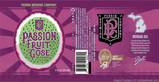 Perrin Brewing Passion Fruit Gose