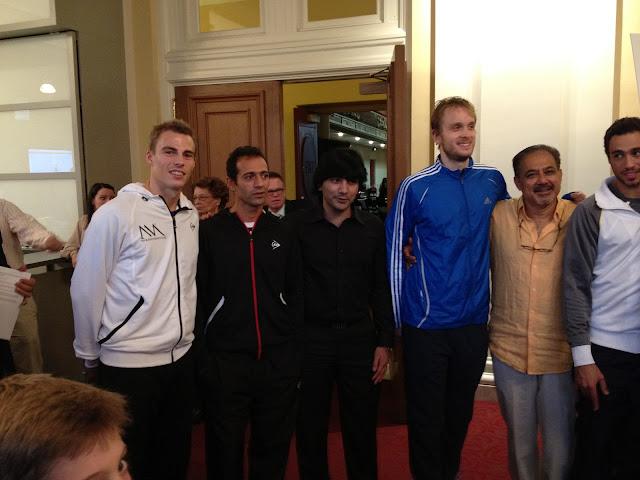 Nick Matthew, Amr Shabana, Arshad Burki, James Willstrop, Mahmud Jafri, Rami Ashour