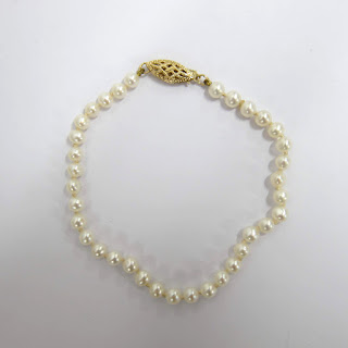 14K Gold and Seed Pearl Bracelet