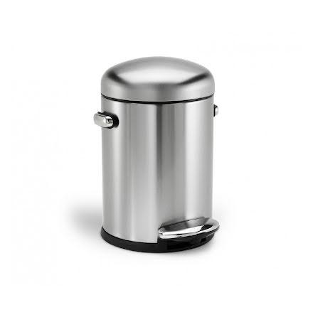 Pedalhink Mini Retro 4.5 liter Rostfritt Stål Simplehuman