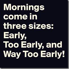 mornings - 3 sizes