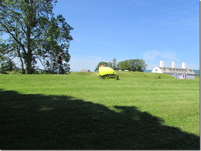 Remote Controled Mower to Mow the High Banks of fort Anne