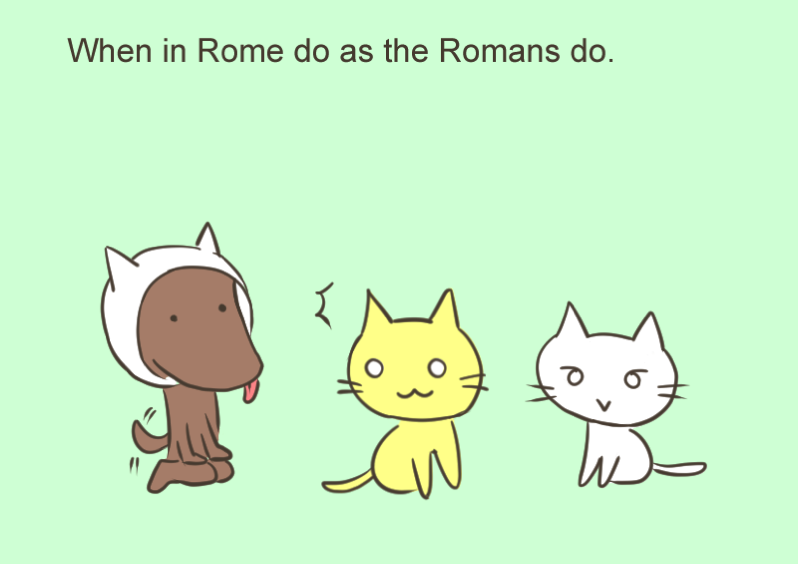 When in Rome do as the Romans do