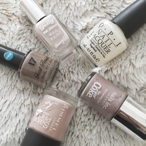 Neutral Ombre Nails
