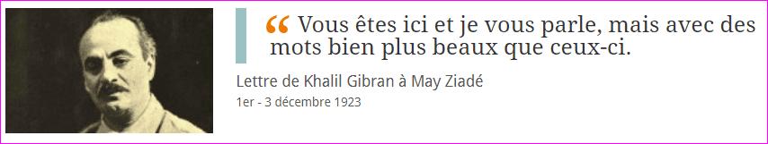 Khalil Gibran et May Ziadé