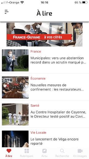 Capturas de pantalla de France-Guyane Actu 5