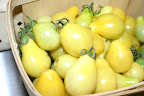 Golden pear tomatoes.