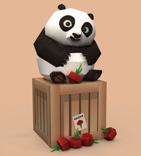 Kung Fu Panda 2 Baby Po Papercraft