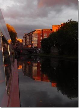 sunset colours in birmingham