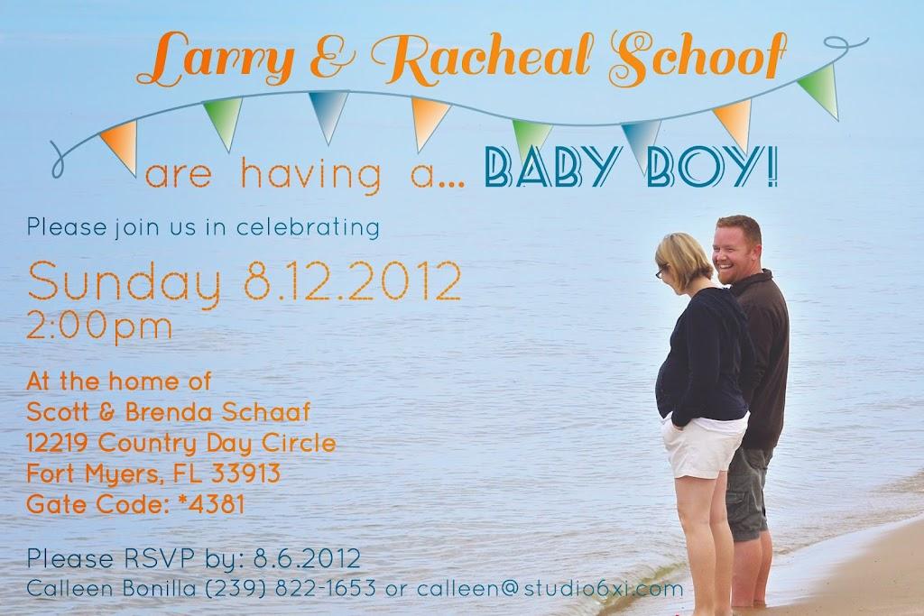 Schoof Baby Shower Invite