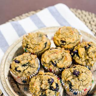 Blueberry Banana Coconut Chia Muffins (Gluten Free).