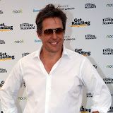 WWW.ENTSIMAGES.COM -    Hugh Grant   at Get Reading festival at Trafalgar Square, London Organised by the Evening Standard in partnership with e-reader firm NOOK July 13th 2013                                             Photo Mobis Photos/OIC 0203 174 1069