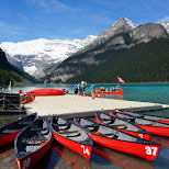 canoe rentals at Lake Louise, Alberta, Canada in Lake Louise, Alberta, Canada