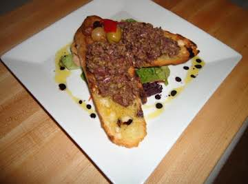 Grilled Bread w/ Black Olive Tapenade
