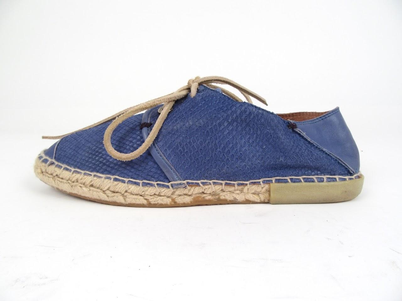 Jimmy Choo Snakeskin Embosses Espadrille Loafers