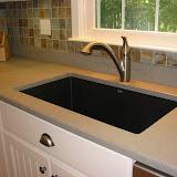 Quartz countertop, granite composite sink
