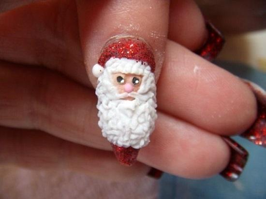 Top santa claus nail art designs pic xmas fashionte prinsesfo Choice Image