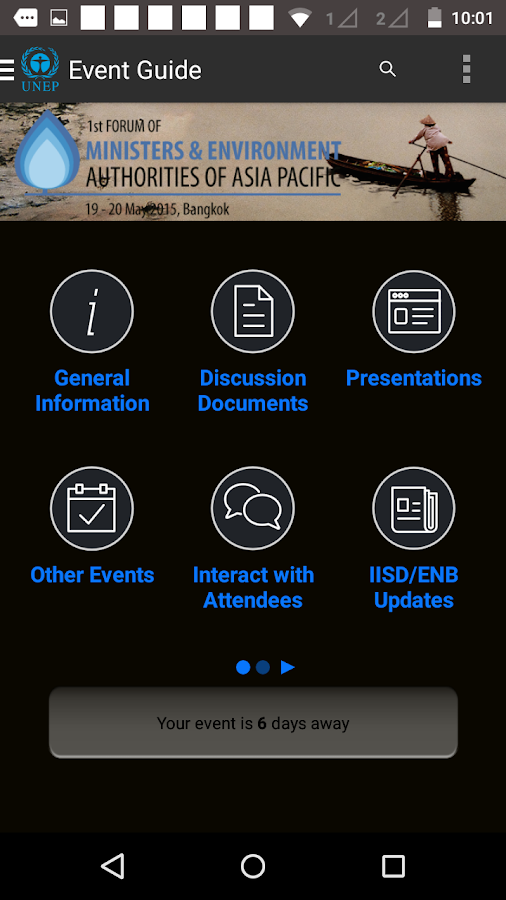UNEP Events- screenshot