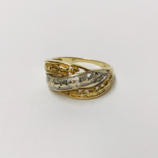 10K White & Yellow Gold Ring